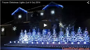 "Holiday Light Show Synced to ""Let It Go"" from Frozen."